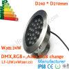 24W DMX LED bajo el agua del punto de luz, lámpara subacuática