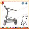 Chariot de remise métallique à supermarché de prix bas avec le panier (Zht261)
