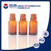 botella de cristal cosmética ambarina del aceite esencial 10ml