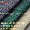 Crepe de la alta calidad de lino / tela de algodón para el vestido