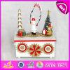 Del carrusel blanco de 2015 juguete de madera lindo de la música niños, caja de música de madera del cabrito promocional, caja de música de madera para el regalo W07b018c de la Navidad