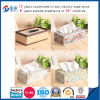 Boîte Shaped de tissu de serviette en métal de rectangle