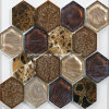 Annata 2016 Hexagonal Glass Mosaic Tiles con Crackle Ice Ceramic