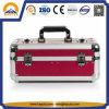Roter Aluminiumschmucksache-Kasten mit einem Schlüsselverschluß für Schmucksachen