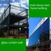 Glaszwischenwand-mehrstöckige Fußboden-Stahlrahmen-vorfabrizierte Gebäude