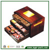 Boîte en bois à chocolat de Brown de qualité pour le cadeau