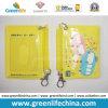 Corrente de bobina plástica do bolso de cartão W/Key do PVC dos desenhos animados da alta qualidade
