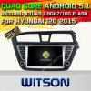 Carro DVD GPS do Android 5.1 de Witson para Hyundai I20 2015 com sustentação do Internet DVR da ROM WiFi 3G do chipset 1080P 16g (A5566)