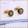 VAGULA Gold Plated Drgon Fashion Cufflink para Men