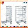 Gaiola Foldable galvanizada armazém do recipiente do rolo de armazenamento (Zhra2)
