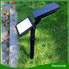 2-en-1 capteur de lumière 48 LED réglable Spike Solar Garden Courtyard Light 3 modes Lampe de mur Super Bright Applique Spotlight