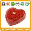 초코렛, 음식 양철 깡통을%s 심혼 모양 주석 상자