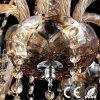 Lámpara pendiente cristalina del oro único atractivo moderno