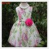 Платье хлопка съемной вышивки цветка флористическое