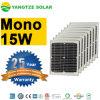 Аттестованная TUV/Ce/UL/ISO панель солнечных батарей 12V 15W Mono