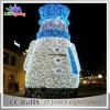 Luz al aire libre del muñeco de nieve de la decoración desmontable derecha de la Navidad 2017