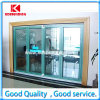 Puerta de vidrio de desplazamiento plegable del mejor aluminio interior barato de la venta (KDST012)
