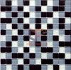 Azulejo de mosaico de cristal movido hacia atrás polvo de plata (CFC106)