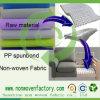 Nonwoven 100% de polypropylène de Spunbond pour la tapisserie d'ameublement de sofa