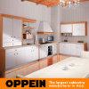 Cabinets de cuisine en bois blancs de modèle de pays d'Oppein avec l'île (OP10-L039)