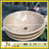 Restaurant Bathroom를 위한 베이지색 Travertine Round Above Counter Basin