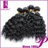 安い製品の巻き毛の波状毛の拡張、織り方のバージンのペルーの毛