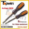 Оптовая продажа 6mm*4  отвертка S2 железного век Shantou Topwin, cr-V, магнитная прорезанной 45# и Филипп