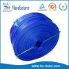 Tuyau plat posé par bleu d'aspiration de PVC d'approvisionnement en eau