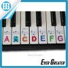 Los cabritos aprenden jugar la etiqueta engomada determinada del piano del teclado de 61 claves