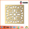 PE novo de Deisgn ou PVDF Coated Aluminum Composite Carved Artistic Wall 4X8FT