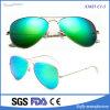 Классицистические пилотные солнечные очки металла с цветастым объективом