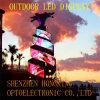 Visualização óptica ao ar livre do diodo emissor de luz da cor cheia de brilho elevado
