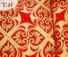 2016 il panno del sofà del nastro rosso luminoso del jacquard di oro di prima scelta (FTH31615)