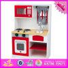 2016 giocattoli stabiliti W10c125 della nuova di disegno dei capretti cucina di legno del gioco