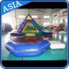 Parque inflável da água da praia, jogos de flutuação da água do lago, parque comercial do Aqua