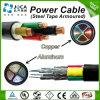 le PVC moyen de la tension 12/20kv a isolé/câble d'alimentation de cuivre/en aluminium engainé de conducteur