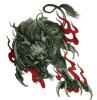 Etiqueta engomada temporal impermeable del tatuaje del diseño de Kirin del fuego