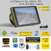5.0 854 * 480pixels IPS Capacitive Android 6.0 Car Tablet PCS com GPS Navigator, Dual Car Camera, 1080P Car DVR, câmera de estacionamento Digital Video Recorder, WiFi