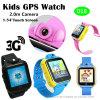 relógio esperto do perseguidor do GPS dos miúdos 3G com câmera de 2.0m (D18)