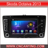 Skoda Octaiva 2013年(AD-7699)のためのA9 CPUを搭載するPure Android 4.4 Car DVD Playerのための車DVD Player Capacitive Touch Screen GPS Bluetooth