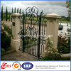 庭Residential Safety Beautiful Wrought Iron Gate (dhgate-9)