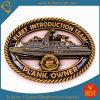 주문 해군 배 모양 앙티크 금 완성되는 동전