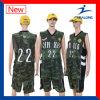 Uniforme inteiramente Sublimated do basquetebol da impressão de Healong Cago