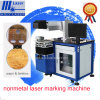 Preiswerter Plastic Wood Egg Crabs Sea Food CO2 Laser Marking Machine für Rubber Hose