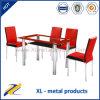 食堂の家具の金属のガラスダイニングテーブル