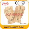 Gelbe Schwein-Korn-Treiber-Leder-Arbeits-industrielle Sicherheits-Handschuhe (22202)