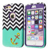 Pesado-deber móvil Chevron Anchor Pattern Hybrid Caso Smart Cover de Phone Accessories para iPhone6 Plus 5.5inch y 4.7 Inch