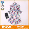 Frauen-Form-beiläufiges Baumwolldrucken-Kleid kundenspezifisch anfertigen