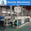Tubulação dobro do PVC da máquina plástica que faz a máquina