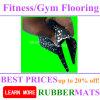Estera de goma de goma del caucho del azulejo del suelo SBR de la gimnasia